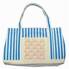 Pattern Cat Pink Cute Sweet Fur Striped Blue Tote Bag by Amaryn4rt