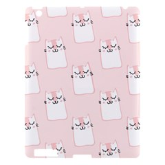 Pattern Cat Pink Cute Sweet Fur Apple Ipad 3/4 Hardshell Case