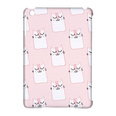 Pattern Cat Pink Cute Sweet Fur Apple Ipad Mini Hardshell Case (compatible With Smart Cover) by Amaryn4rt