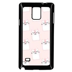 Pattern Cat Pink Cute Sweet Fur Samsung Galaxy Note 4 Case (black) by Amaryn4rt