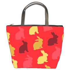 Hare Easter Pattern Animals Bucket Bags by Amaryn4rt
