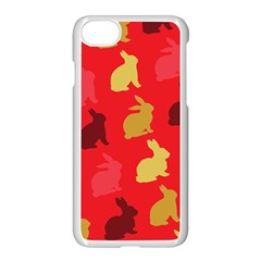 Hare Easter Pattern Animals Apple Iphone 7 Seamless Case (white) by Amaryn4rt