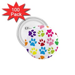 Paw Print Paw Prints Background 1 75  Buttons (100 Pack)