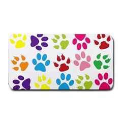 Paw Print Paw Prints Background Medium Bar Mats by Amaryn4rt