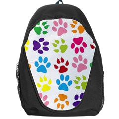 Paw Print Paw Prints Background Backpack Bag by Amaryn4rt