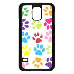 Paw Print Paw Prints Background Samsung Galaxy S5 Case (black) by Amaryn4rt