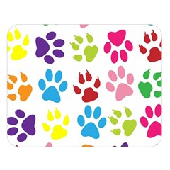 Paw Print Paw Prints Background Double Sided Flano Blanket (large)