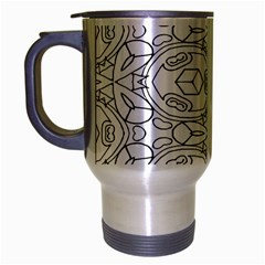 Pattern Silly Coloring Page Cool Travel Mug (silver Gray) by Amaryn4rt