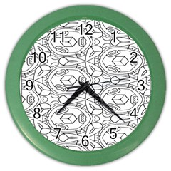 Pattern Silly Coloring Page Cool Color Wall Clocks by Amaryn4rt