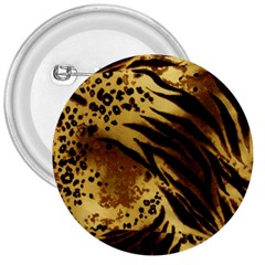 Pattern Tiger Stripes Print Animal 3  Buttons by Amaryn4rt