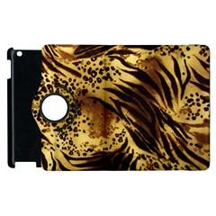 Pattern Tiger Stripes Print Animal Apple iPad 3/4 Flip 360 Case by Amaryn4rt