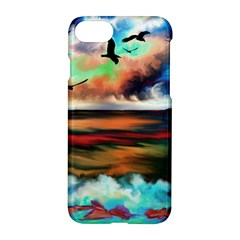Ocean Waves Birds Colorful Sea Apple iPhone 7 Hardshell Case by Amaryn4rt