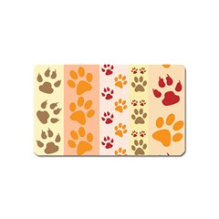 Paw Print Paw Prints Fun Background Magnet (name Card) by Amaryn4rt