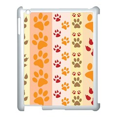 Paw Print Paw Prints Fun Background Apple Ipad 3/4 Case (white)