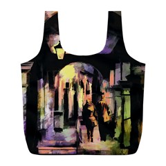 Street Colorful Abstract People Full Print Recycle Bags (l)  by Amaryn4rt