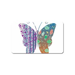 Vintage Style Floral Butterfly Magnet (name Card) by Amaryn4rt