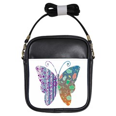 Vintage Style Floral Butterfly Girls Sling Bags by Amaryn4rt