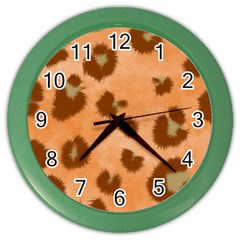 Seamless Tile Background Abstract Color Wall Clocks