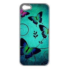 Texture Butterflies Background Apple Iphone 5 Case (silver)