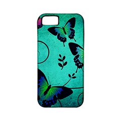 Texture Butterflies Background Apple Iphone 5 Classic Hardshell Case (pc+silicone)