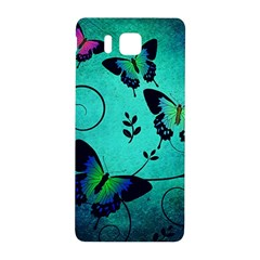 Texture Butterflies Background Samsung Galaxy Alpha Hardshell Back Case by Amaryn4rt