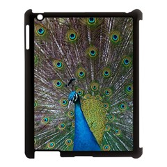 Peacock Feather Beat Rad Blue Apple Ipad 3/4 Case (black) by Amaryn4rt