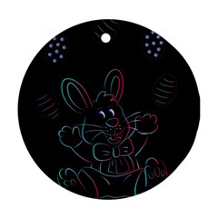 Easter Bunny Hare Rabbit Animal Ornament (round) by Amaryn4rt
