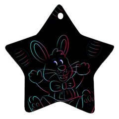 Easter Bunny Hare Rabbit Animal Star Ornament (two Sides) by Amaryn4rt