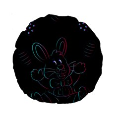 Easter Bunny Hare Rabbit Animal Standard 15  Premium Round Cushions