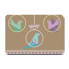 Isolated Wallpaper Bird Sweet Fowl Small Doormat  by Amaryn4rt