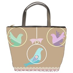 Isolated Wallpaper Bird Sweet Fowl Bucket Bags by Amaryn4rt