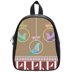 Isolated Wallpaper Bird Sweet Fowl School Bags (small)  by Amaryn4rt