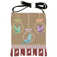 Isolated Wallpaper Bird Sweet Fowl Shoulder Sling Bags by Amaryn4rt