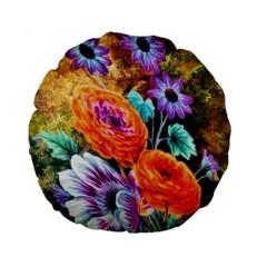 Flowers Artwork Art Digital Art Standard 15  Premium Flano Round Cushions by Amaryn4rt