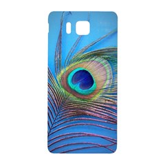 Peacock Feather Blue Green Bright Samsung Galaxy Alpha Hardshell Back Case by Amaryn4rt