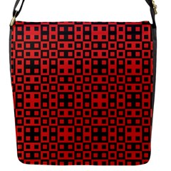 Abstract Background Red Black Flap Messenger Bag (s) by Amaryn4rt