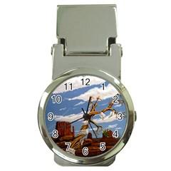Acrylic Paint Paint Art Modern Art Money Clip Watches by Amaryn4rt