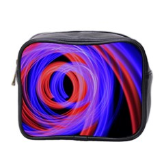 Background Blue Red Mini Toiletries Bag 2 Side by Amaryn4rt