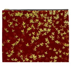Background Design Leaves Pattern Cosmetic Bag (xxxl)  by Amaryn4rt