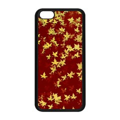 Background Design Leaves Pattern Apple Iphone 5c Seamless Case (black) by Amaryn4rt