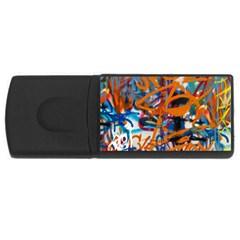 Background Graffiti Grunge Usb Flash Drive Rectangular (4 Gb) by Amaryn4rt