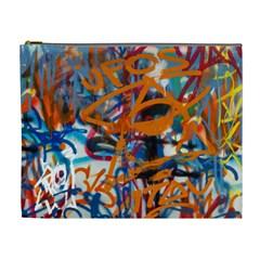 Background Graffiti Grunge Cosmetic Bag (xl) by Amaryn4rt