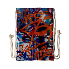 Background Graffiti Grunge Drawstring Bag (small) by Amaryn4rt