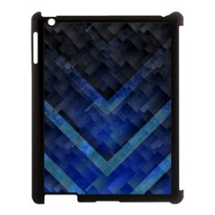 Blue Background Wallpaper Motif Design Apple Ipad 3/4 Case (black) by Amaryn4rt