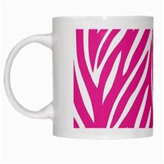 Zebra Skin Pink White Mugs by Alisyart