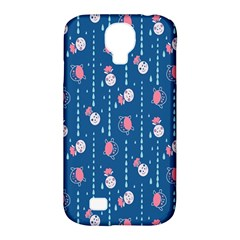 Pig Pork Blue Water Rain Pink King Princes Quin Samsung Galaxy S4 Classic Hardshell Case (pc+silicone) by Alisyart