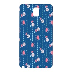 Pig Pork Blue Water Rain Pink King Princes Quin Samsung Galaxy Note 3 N9005 Hardshell Back Case by Alisyart