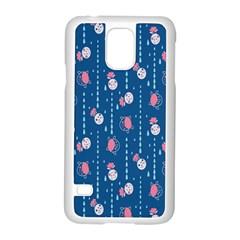 Pig Pork Blue Water Rain Pink King Princes Quin Samsung Galaxy S5 Case (white) by Alisyart