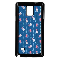 Pig Pork Blue Water Rain Pink King Princes Quin Samsung Galaxy Note 4 Case (black) by Alisyart
