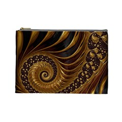 Fractal Spiral Endless Mathematics Cosmetic Bag (large)  by Amaryn4rt